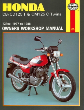 Honda CB125T, CD125T & CM125C Twins (77-88) Haynes Repair Manual