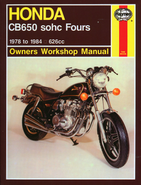 Honda CB650 sohc Fours 626cc (79-84) Haynes Repair Manual