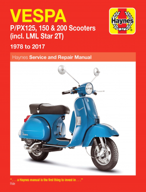 Vespa P/PX 125, 150 & 200 (78-17) (Includes LML Star 2T) Haynes Repair Manual