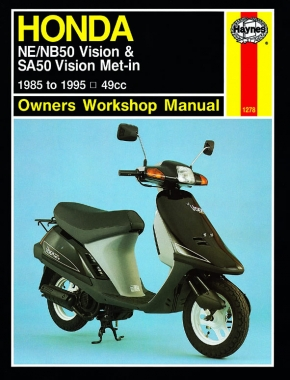 Honda NE/NB50 Vision & SA50 Vision Met-in Scooters (85-95) Haynes Repair Manual