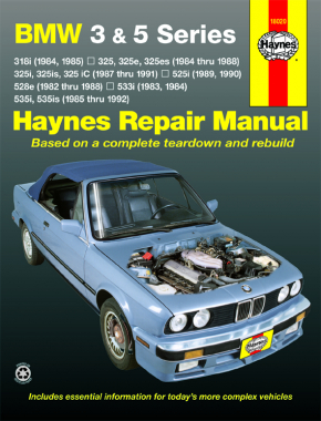 BMW 3 & 5 Series (82-92) Haynes Repair Manual