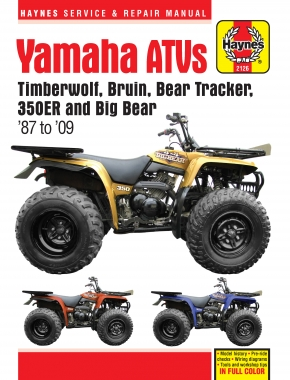 Yamaha YFB & YFM Timberwolf, Bear Tracker, Bruin, & Big Bear ATVs (87-09) Haynes Repair Manual