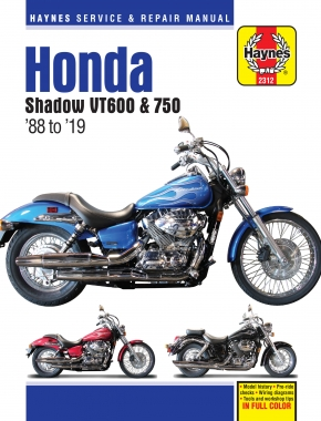 Honda VT600 & VT750 Shadow (88-19) Haynes Repair Manual