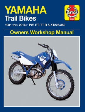 Yamaha PW, RT, TT-R & XT225/350 Trailbikes (81-16) Haynes Repair Manual