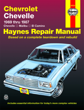el camino haynes manuals  enlarge chevrolet chevelle, malibu & el camino (69 87) haynes repair manual