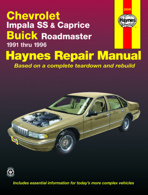 chevrolet v8 impala ss caprice buick roadmaster 91 96 haynes rh haynes com chevy caprice repair manual pdf Tractor Service Manuals