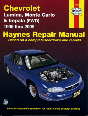 Chevrolet Lumina, Monte Carlo & Impala FWD (95-05) Haynes Repair Manual