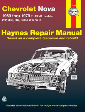 Chevrolet Nova (69-79) V8 Haynes Repair Manual