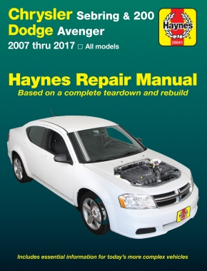 Chrysler Sebring Sedan (07-10), Sebring Convertible (08-10), 200 (11-17) & Dodge Avenger (07-14) Haynes Repair Manual