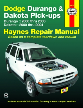 Dodge Durango (00-03) & Dakota (00-04) Pick-ups Haynes Repair Manual