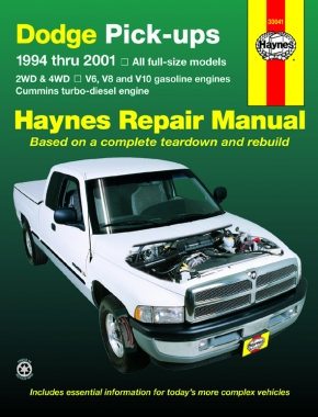 dodge full size pick ups 1500 94 01 2500 3500 94 02 gas rh haynes com 1996 Dodge Ram 1500 Review 1998 Dodge 1500