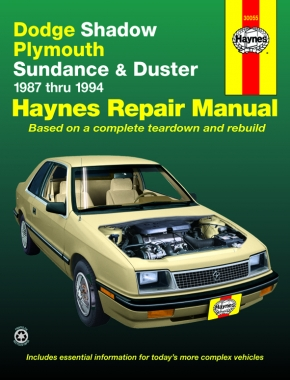 Dodge Shadow, Plymouth Sundance & Duster (87-94) Haynes Repair Manual