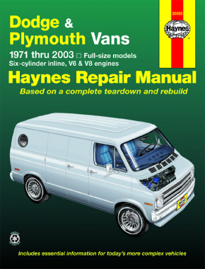 Dodge Tradesman, Sportsman & Plymouth Voyager Full-size in-line 6, V6 & V8 Vans (71-03) Haynes Repair Manual