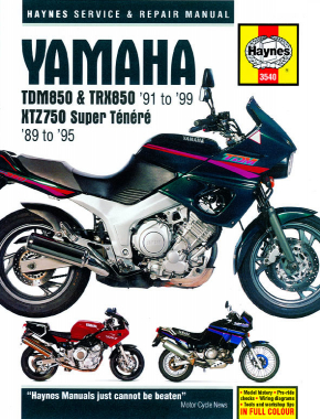 Yamaha TDM850 (91-99), TRX850 (96-99), & XTZ750 Super Tenere (89-95) Haynes Repair Manual