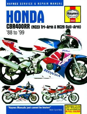 Honda CBR400RR NC23 Tri-Arm & NC29 Gull-Arm models (88-99) Haynes Repair Manual
