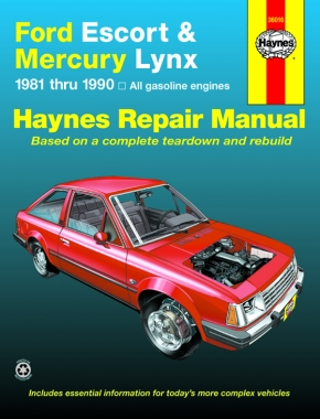 Ford Escort & Mercury Lynx (81-90) (all gas engines inc. EFI & Turbo) Haynes Repair Manual