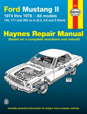 Ford Mustang II (1974-1978) 4-cylinder, V6 & V8 Haynes Repair Manual