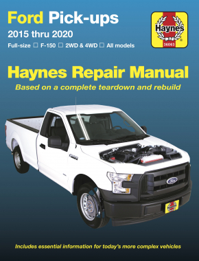 Ford Full-size F-150 2WD & 4WD Pick-ups (15-20) Haynes Repair Manual