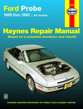 ford probe inc turbo 89 92 haynes repair manual haynes manuals rh haynes com 1989 Ford Probe GT 1994 Ford Probe