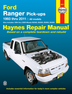 Haynes repair manual new ford ranger mazda b3000 truck b2300 b4000.