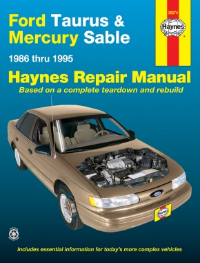 ford taurus mercury sable 86 95 haynes repair manual haynes rh haynes com 1998 Taurus Fuse Box Diagram 1996 Taurus