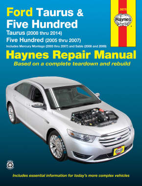 Ford Taurus (08-14) & Five Hundred (05-07) & Mercury Montego (05-07) & Sable (08-09) Haynes Repair Manual