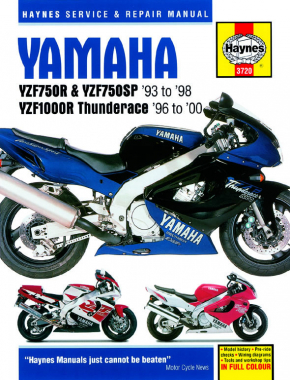 Yamaha YZF750R, YZF750SP (93-98) & YZF1000R Thunderace (96-00) Haynes Repair Manual (R1 models covered in manual #3754)