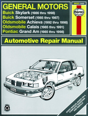 General Motors covering Buick Skylark (86-98), Buick Somerset (85-87), Oldsmobile Achieva (92-98), Oldsmobile Calais (85-91), & Pontiac Grand Am (85-98) (inc. Pontiac 2.3L Quad 4) Haynes Repair Manual