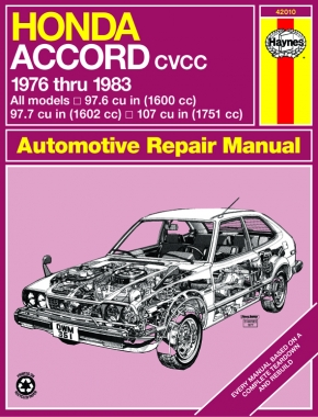 Honda Accord CVCC (76-83) Haynes Repair Manual