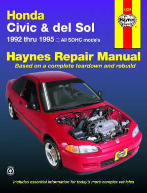 honda civic del sol covering 92 95 haynes repair manual haynes rh haynes com Honda Civic User Manual Honda Civic Owners Manual