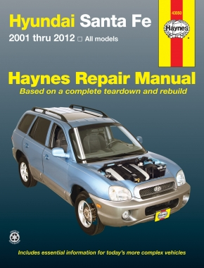 hyundai sante fe 01 12 haynes repair manual haynes manuals rh haynes com