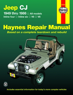 Jeep CJ, Scrambler, Renegade. Laredo & Golden Eagle (49-86) Haynes Repair Manual