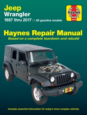 jeep wrangler 4 cyl 6 cyl gas engine 2wd 4wd 87 17 haynes rh haynes com 2004 jeep wrangler repair manual pdf 2002 Jeep Wrangler Sport