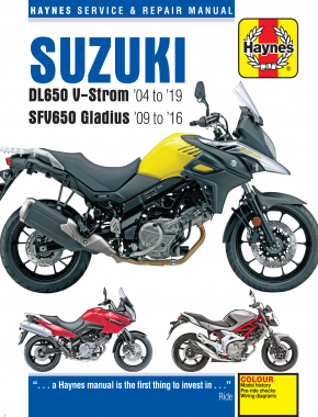 Suzuki DL650 V-Strom & SFV650 Gladius (04-19) Haynes Repair Manual