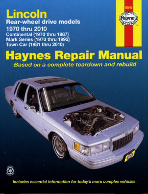 Lincoln RWD covering Continental (70-87) Mark Series (70-92) Town Car (81-10) Haynes Repair Manual