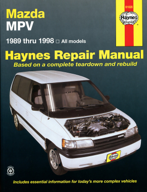 mazda mpv for mazda mpv models 89 98 haynes repair manual haynes rh haynes com mazda mpv owners manual download mazda mpv service manual pdf