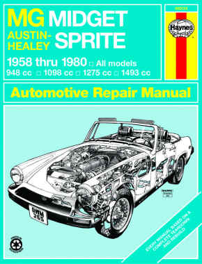 MG Midget & Austin-Healy Sprite (58-80) models covered MG Midget 1500 Roadster (74-80), Austin-Healy (58-72) & MG Midget (61-79) Haynes Repair Manual