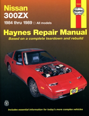 Nissan 300ZX (84-89) models inc. Turbo, 2 seater & 2 + 2 V6 engine Haynes Repair Manual