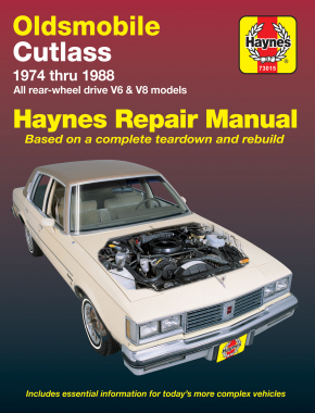 Oldsmobile Cutlass & Cutlass Supreme V6 & V8 Gas Engines (74-88) Haynes Repair Manual