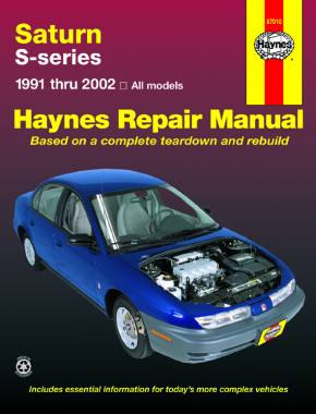 Saturn S-series (91-02) models of Saturn SL, SL1, SL2, SC, SC1, SC2, SW1 & SW2 Haynes Repair Manual