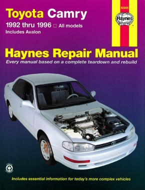 toyota camry 92 96 avalon 95 96 haynes repair manual haynes rh haynes com 1996 Avalon Interior 1998 Avalon
