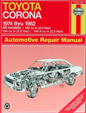 toyota corona sedan wagon 74 82 haynes repair manual haynes rh haynes com toyota corolla repair manual blog book toyota corona repair manual