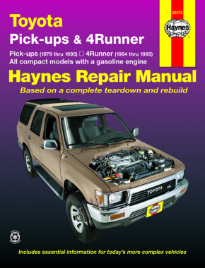 Toyota pick-ups (79-95), 4Runner (84-95) & SR5 Pick-up (79-95) Haynes Repair Manual