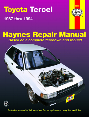 toyota tercel 87 94 excludes fwds station wagons haynes repair rh haynes com 1994 toyota corolla repair manual pdf 1994 toyota corolla repair manual