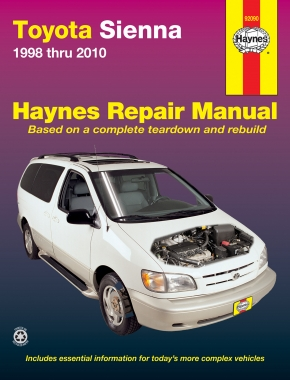 Toyota Sienna (98-10) Haynes Repair Manual