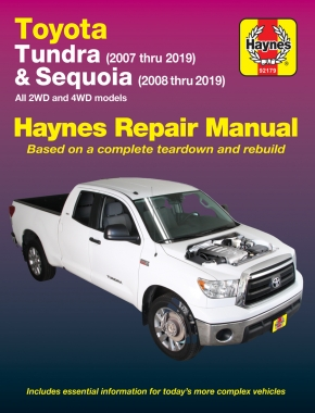 Toyota 2WD & 4WD Tundra (07-19) & Sequoia (08-19) Haynes Repair Manual