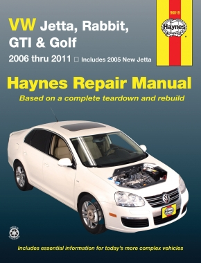 Volkswagen VW Jetta, Rabbit, GTI & Golf covering New Jetta (05), Jetta (06-11), GLI (06-09), Rabbit (06-09), GTI 2.0L (06), GTI (07-11) & Golf (10-11) Haynes Repair Manual