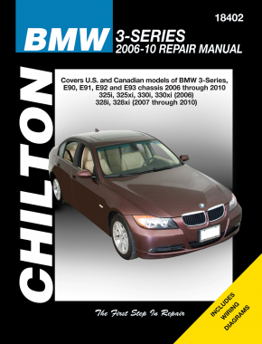BMW 3-Series (2006-10) (Does not include information specific to M3, turbocharged or diesel models. Also, does not cover 2006 325Ci/300Ci Coupe or Convertibles based on the E46 chassis. Also, does not include Chilton Repair Manual (USA)
