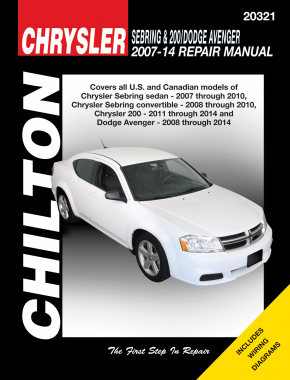 Chrysler Sebring & 200/Dodge Avenger (2007-14) Chilton Repair Manual (USA)