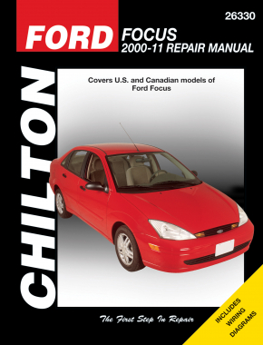 Ford Focus (2000-11) for except SVT & rear disc brake models Chilton Repair Manual (USA)